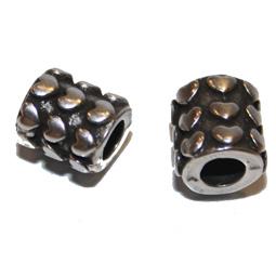 Metalltub i kvalitetsmetall med hjärtmönster, 10*9 mm.