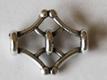 Metallpärla/mellandel i kvalitetsmetall, 19*14 mm.