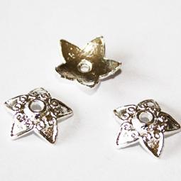 Silverfärgad pärlhatt, 13 mm. 5-pack.