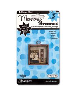 Metallram till memory glas, koppar, 1,5*1,5 inches.