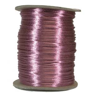 Ljuslila/rosa (mave) satinband, 2 mm. En meter.