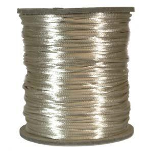 Ljust beige satinband, 2 mm. En meter.