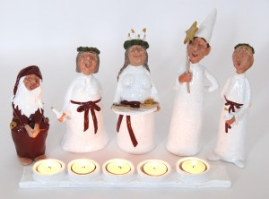 Lucia morning 5 candles