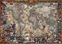 Pirates Map 2000 Bitar Educa