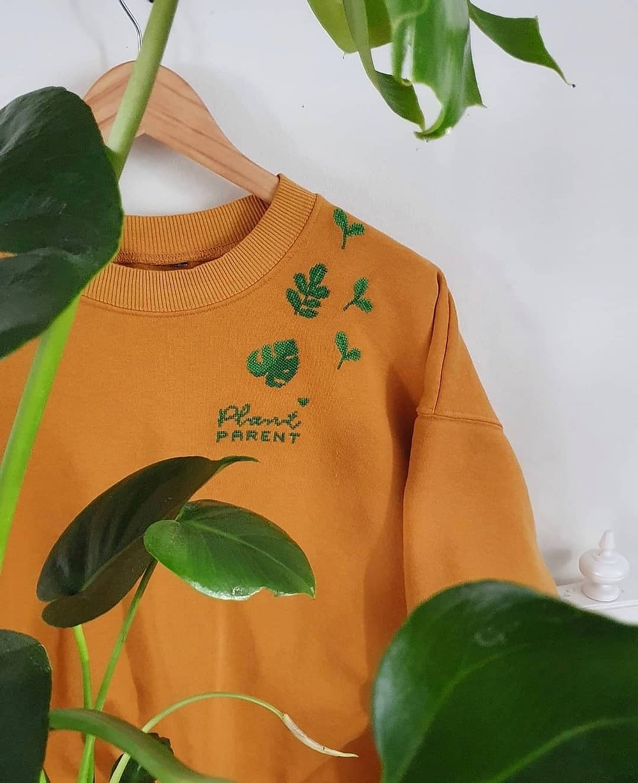 Broderikit för återbruk växter