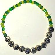 UNDIAGNOSED Armband grön/guld