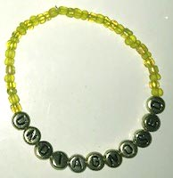 UNDIAGNOSED Armband gult/guld