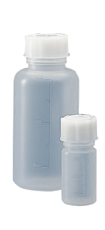 Graduated wide neck bottle, cylindrical, polypropylene, 250 ml, 50 pcs