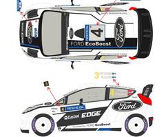 FORD Fiesta RS WRC Solberg - Latvala Finland 2012