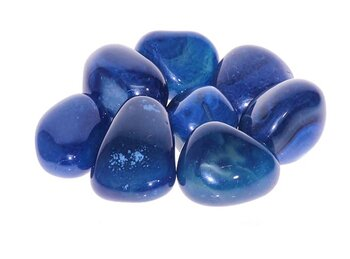 Blå Agat-  Trumlad - Large