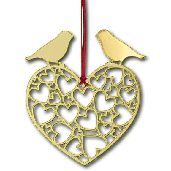 Weihnachtsdeko Gold.Weihnachtsdeko Herzen Gold