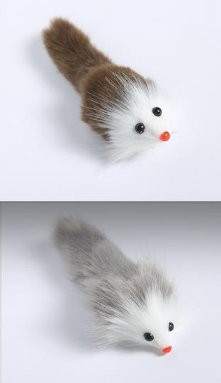 Möss fuskpäls, med pipljud 2-färgade 50st