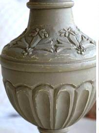 Lampfot grå patina trä shabby chic lantlig stil fransk lantstil