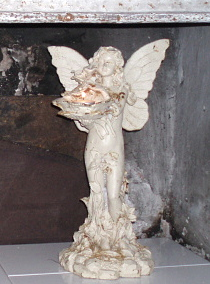 Stor ängel älva gjutjärn antikvit rostig trädgård