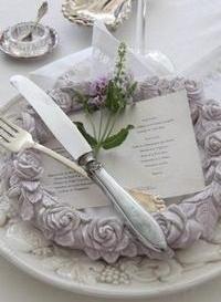 Roskrans lavendel Jeanne D´Arc Living shabby chic lantlig stil