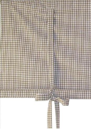 Knythissgardin hissgardin rutig linne färgad