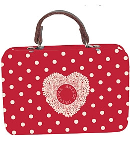 Plåtväska väska Röd prickig Maileg