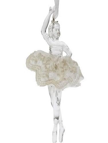 Ballerina dekoration med spetskjol shabby chic lantlig stil