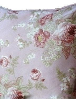 Kuddfodral rosor rosa shabby chic lantlig stil