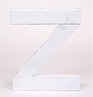 Z - blank vit plåt