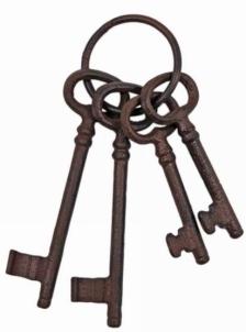 Nyckelknippa gammeldags nycklar shabby chic lantlig stil