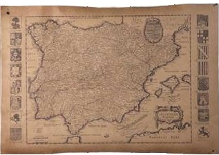 Old Map of Paris replica