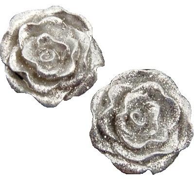12 st små rosor silver scarapping smyckestillverkning