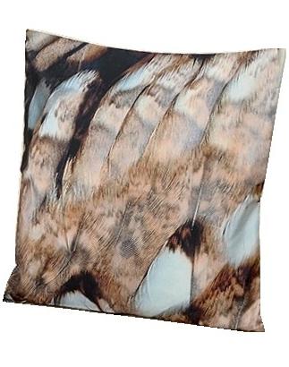 Kuddfodral fjädrar örn shabby chic lantlig stil