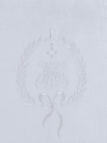 Kappa gardinkappa metervara vit med vitt broderi spets shabby chic lantlig stil