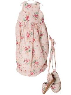 Maxi klänning och skor ljus blommig Maileg