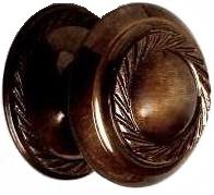 Knopp ornament antik mässingfärgad metall shabby chic lantlig stil