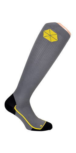 Swedish Supporters sport-compressiekousen, grijs