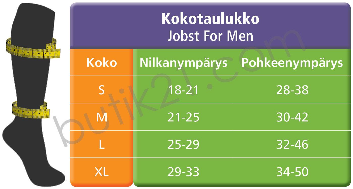 Kokotaulukko Jobst for men