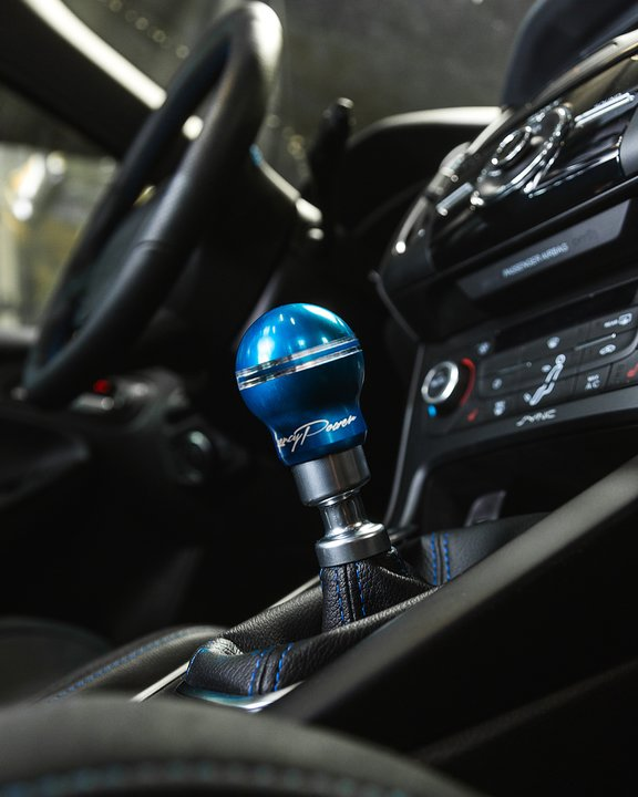 AGENCY POWER 6SPEED ALUMINUM SHIFT KNOB BLUE FORD FOCUS RS