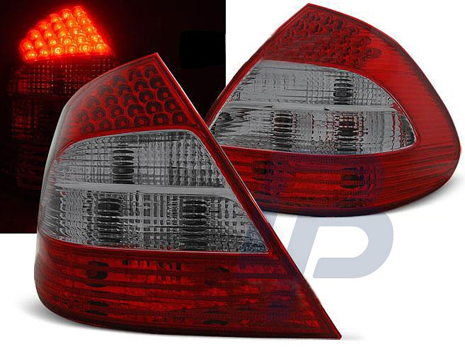 MERCEDES W211 E-CLASS 03 02-04 06 RED SMOKE LED TAILLIGHTS