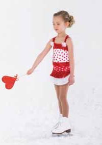 Röd och vit hjärtklänning