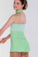 Ljusgrön känning i spets och lycra