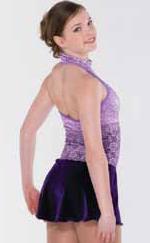 Lila klänning med krage