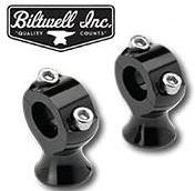 "Biltwell Stainless 1"" Risers Blk"