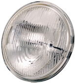 "Insats Spotlamp Sealbeam 4-1/2"", Räffl.Glas"