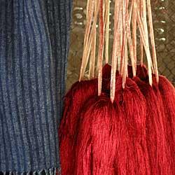 Växtfärgat silke