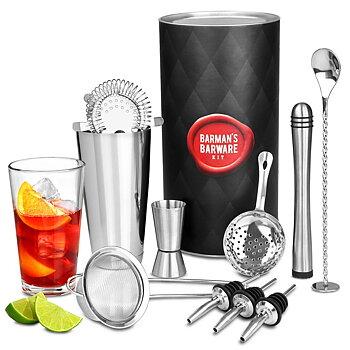Cocktail-set Deluxe med Boston Shaker
