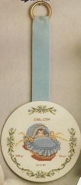 Doptavla - blå med hänge