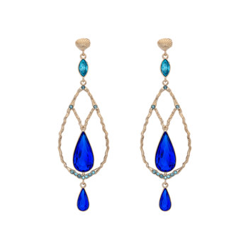 Lily and Rose Garbo earrings - Majestic blue