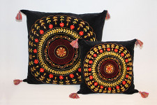 Kudde by Leonnie Boheme 75x75 Blomma Rost