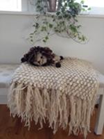 Weranas Kenana Knitter Critters Lejon Natur vit