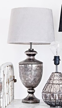 Lampfot Bordslampa Olsson & Jensen Glas Zink