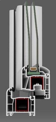1-luft pvc fönster DREH/KIPP, 6x8