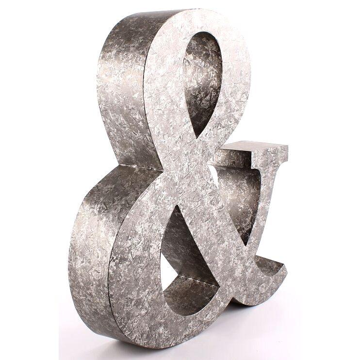 bokstäver i metall inredning