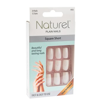 NATUREL Lösnaglar Plain Nails -square short